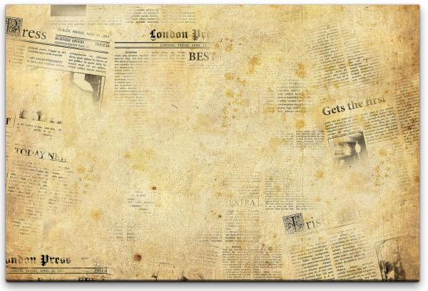 Zeitungen Wandbild in verschiedenen Größen