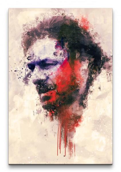 Game of Thrones Stark Porträt Abstrakt Kunst Kultserie 60x90cm Leinwandbild
