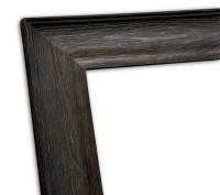 Echtholzrahmen Natur schwarz lasiert Holzmaserung