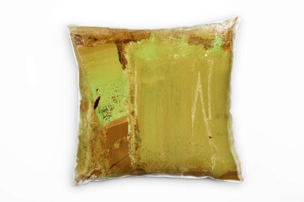 Couch Sofa Lounge Zierkissen in 40x40cm Braun Olivgrün Limone