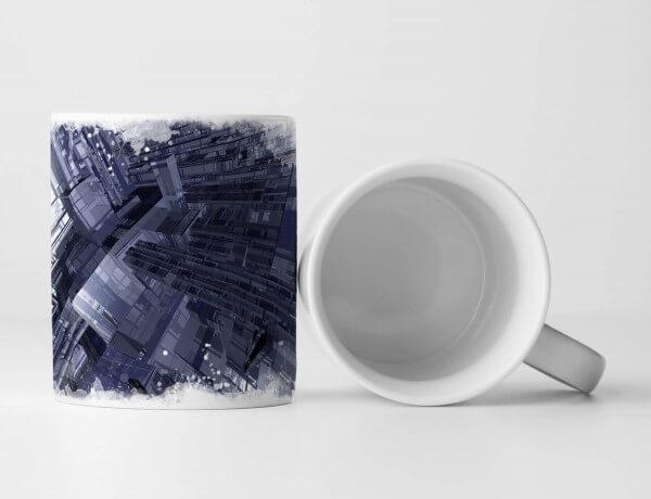 Tasse Geschenk Architektur Modell – Stadt aus Glas