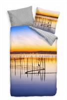 See Landschaft Himmel Spiegelung Bettwäsche Set 135x200 cm + 80x80cm  Atmungsaktiv