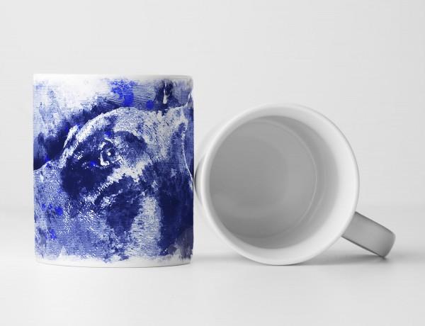 Dobermann Tasse als Geschenk, Design Sinus Art
