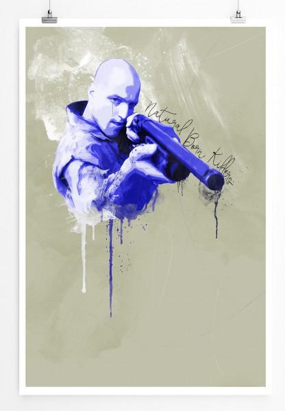 Natural Born Killers 90x60cm Paul Sinus Art Splash Art Wandbild als Poster ohne Rahmen gerollt