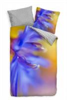 Blte Abstrakt Blau Nahaufnahme Bettwäsche Set 135x200 cm + 80x80cm  Atmungsaktiv