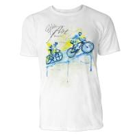 Radsport Uphill Sinus Art ® T-Shirt Crewneck Tee with Frontartwork