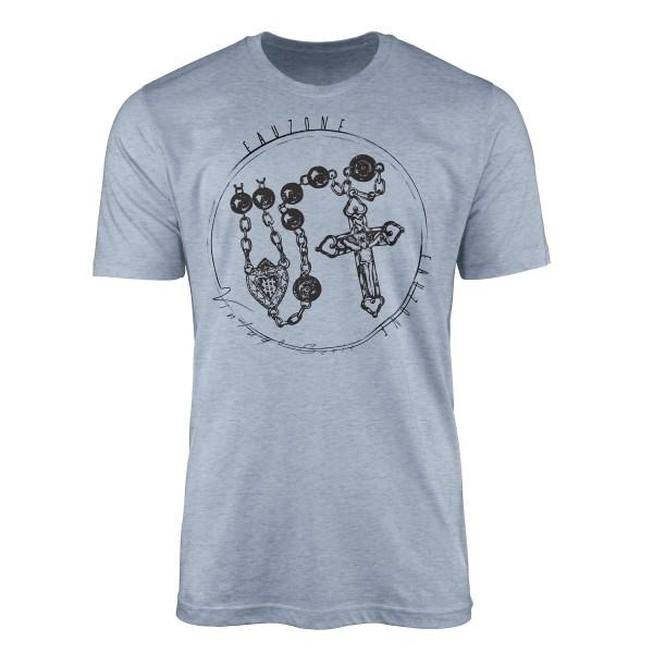 Vintage Herren T-Shirt Rosenkranz
