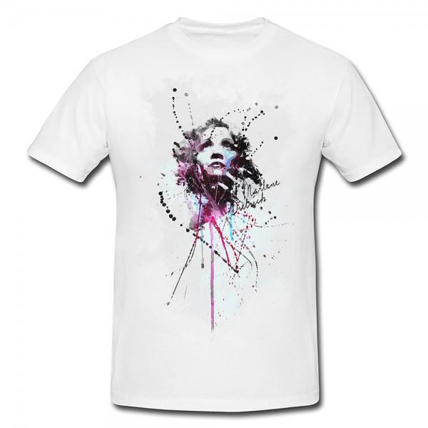 Marlene Dietrich Premium Herren und Damen T-Shirt Motiv aus Paul Sinus Aquarell