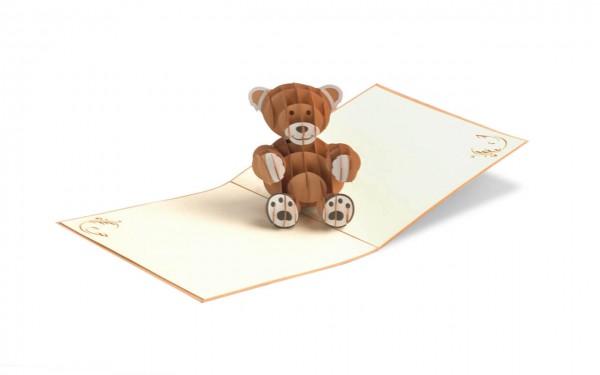 TeddyBär Grußkarte Größe: 15x15cm