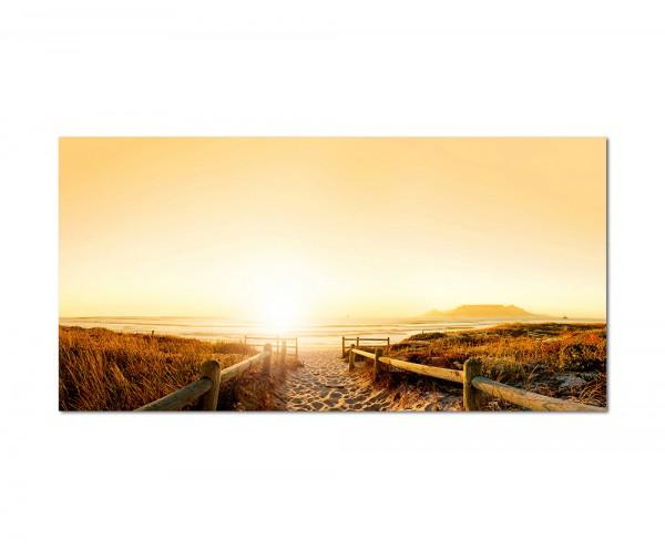 120x60cm Strand Meer Sonnenuntergang Landschaft