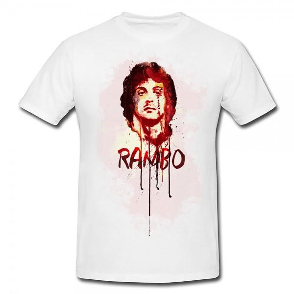 Rambo Premium Herren und Damen T-Shirt Motiv aus Paul Sinus Aquarell