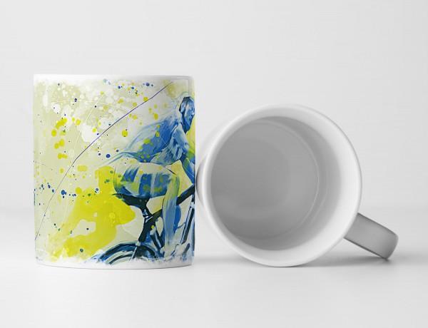 Radsport V Tasse als Geschenk, Design Sinus Art