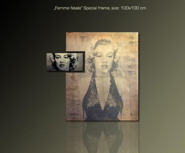 Femme Fatale 100x100 cm