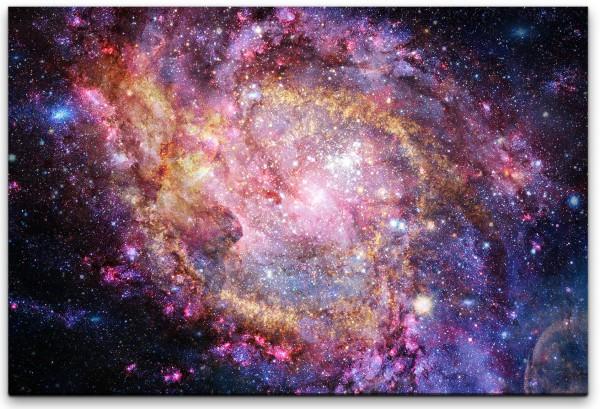 Galaxie und Sterne Wandbild in verschiedenen Größen