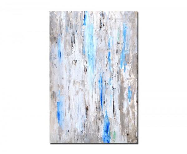 120x80cm Kunst Malerei abstrakt braun/blau