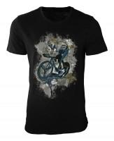 Radsport I Damen und Herren T-Shirt schwarz / black