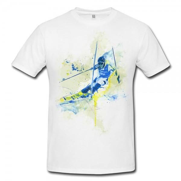 Ski Alpin I Premium Herren und Damen T-Shirt Motiv aus Paul Sinus Aquarell