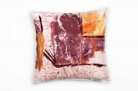 Couch Sofa Lounge Zierkissen in 40x40cm Rotviolett Reinorange Feuerrot