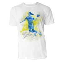Handballerin Sinus Art ® T-Shirt Crewneck Tee with Frontartwork