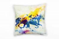 Pferderennen Deko Kissen Bezug 40x40cm für Couch Sofa Lounge Zierkissen