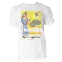 Tatraplan Auto Herren T-Shirts in Karibik blau Cooles Fun Shirt mit tollen Aufdruck