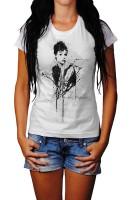Audrey-Hepburn Herren und Damen T-Shirt BLACK-WHITE