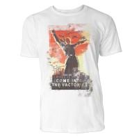 Come Into the Factories Herren T-Shirts in Karibik blau Cooles Fun Shirt mit tollen Aufdruck