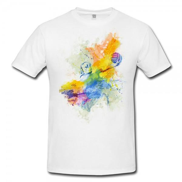 Wasserball I  Herren und Damen T-Shirt Sport Motiv aus Paul Sinus Aquarell