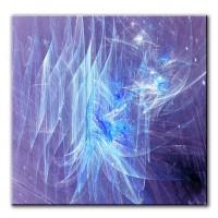 Meeresleuchten, abstrakt, 60x60cm