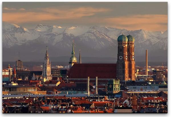 Stadtpanorama Wandbild in verschiedenen Größen