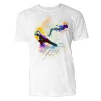 Capoeira Banda  Sinus Art ® T-Shirt Crewneck Tee with Frontartwork