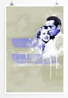 Casablanca II 90x60cm Paul Sinus Art Splash Art Wandbild als Poster ohne Rahmen gerollt