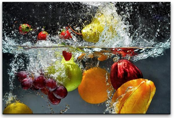 Obst und Gemüse in Wasser Wandbild in verschiedenen Größen