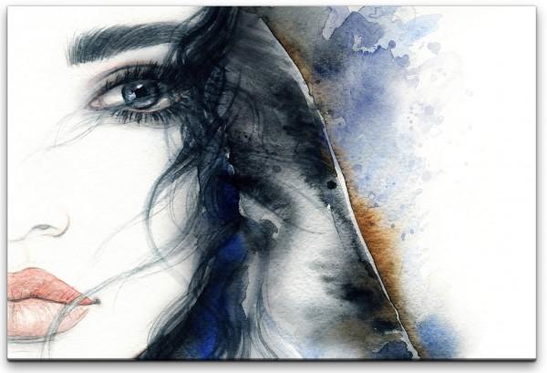 Portrait einer Frau Wandbild in verschiedenen Größen