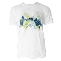 Boxer beim Jab Sinus Art ® T-Shirt Crewneck Tee with Frontartwork