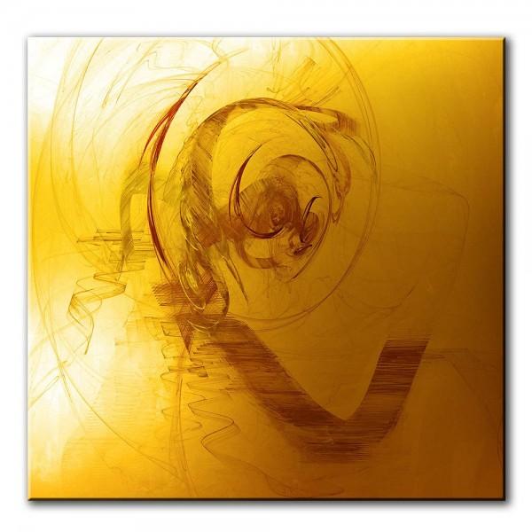 Goldene Tiefe, abstrakt, 60x60cm