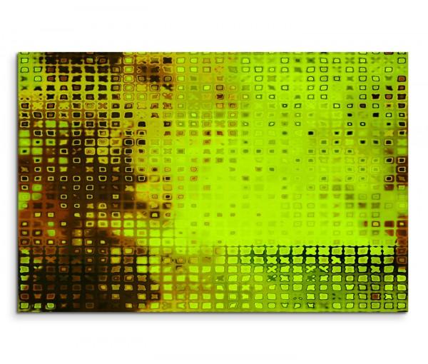 120x80cm Wandbild Kunst Hintergrund abstrakt grün braun