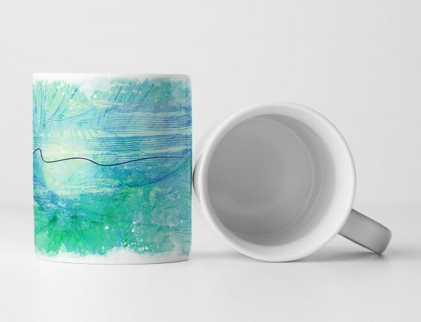 Tasse Geschenk maritim + meeresfarben