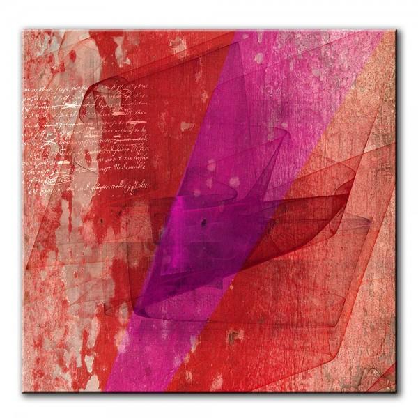 Roter Hauch, abstrakt, 60x60cm