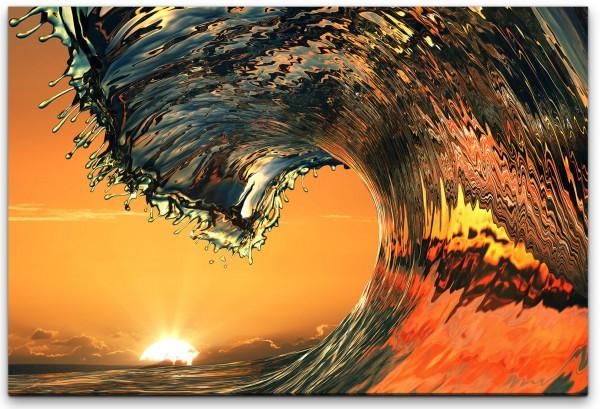Wellen im Ozean Wandbild in verschiedenen Größen