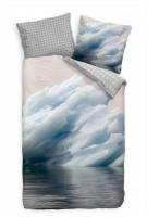 """Eisberg Gr""""nland Arktis Meer Blau Bettwäsche Set 135x200 cm + 80x80cm  Atmungsaktiv"""
