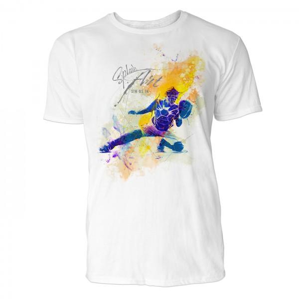 American Baseball Pitcher 3 Sinus Art ® T-Shirt Crewneck Tee with Frontartwork