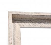 Afrikanischer Schattenfugenrahmen Hellbraun Weiß für 4cm Keilrahmen