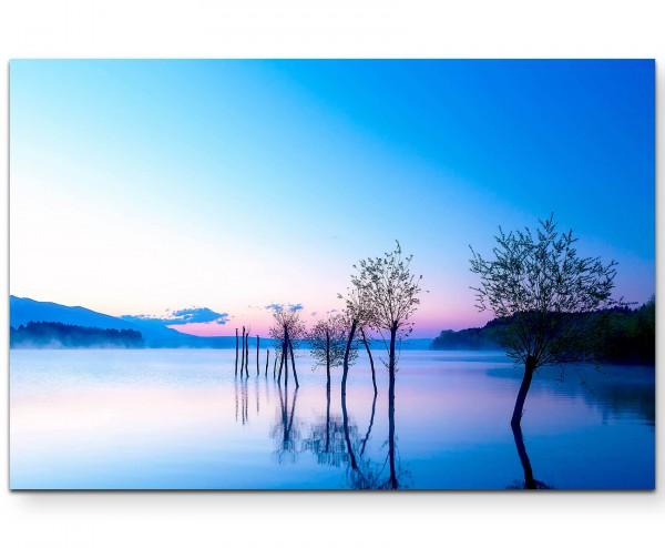 ruhige Landschaft – See - Leinwandbild