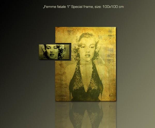 Femme Fatale 1 100x100cm