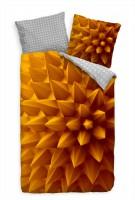 Abstrakt 3D Muster Spitzen Gelb Orange Bettwäsche Set 135x200 cm + 80x80cm  Atmungsaktiv