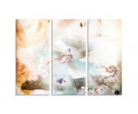 130x90cm abstraktes Bild Wasserfarben schmutzig
