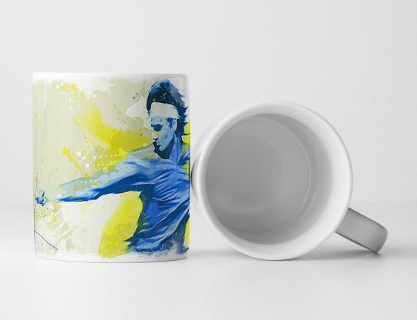 Tennis IV Tasse als Geschenk, Design Sinus Art