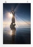 60x90cm Poster Arbeiterfotografie – Fischer mit Netz