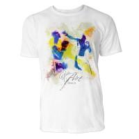 Boxer beim Fausthieb Sinus Art ® T-Shirt Crewneck Tee with Frontartwork